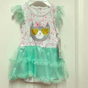 💥BRAND NEW💥0-3 baby girl tutu kitty bodysuit 🐱